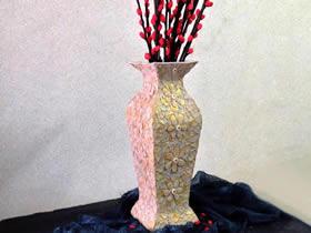 纸箱怎么做花瓶的步骤图解