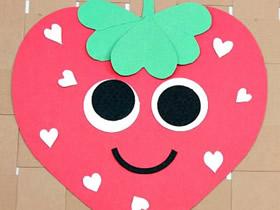 怎么用卡纸做草莓贴画