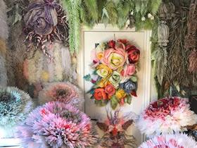 怎么用薄纸做巨型纸花的作品图片大全
