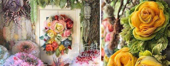 怎么用薄纸做巨型纸花的作品图片大全- www.aizhezhi.com