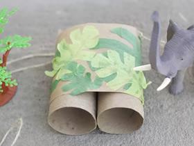 卷纸芯做望远镜怎么做