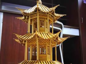 怎么用一次性筷子做塔式建筑物