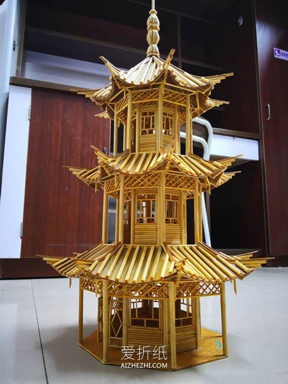 怎么用一次性筷子做塔式建筑物- www.aizhezhi.com