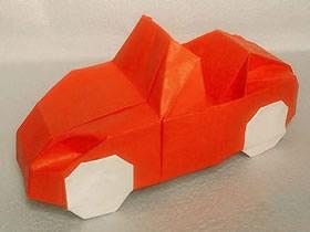 怎么折纸敞篷车跑车教程