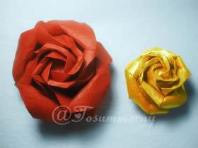 怎么折叠无格PT玫瑰折法