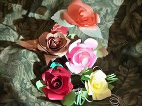 怎么用卡纸做玫瑰花步骤简单