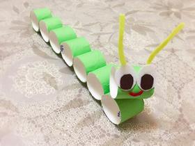 怎么用卷纸芯做毛毛虫