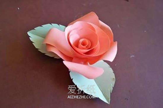 怎么用卡纸做玫瑰花步骤简单- www.aizhezhi.com