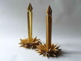 怎么折纸蜡烛台的折法