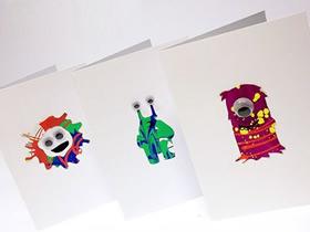 怎么用手绘做万圣节怪物卡片