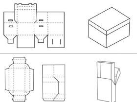 纸盒包装怎么折叠带展开图