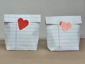 爱心纸袋怎么折不用剪刀