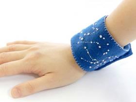 怎么用不织布做星座腕带