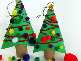 怎么做卷纸芯圣诞树