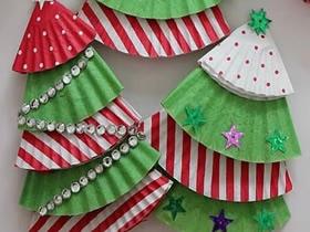 蛋糕纸圣诞树怎么做