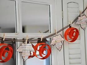 怎么用卡纸做万圣节南瓜装饰