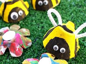 鸡蛋盒蜜蜂怎么做