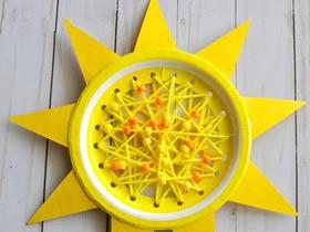 纸盘怎么做太阳