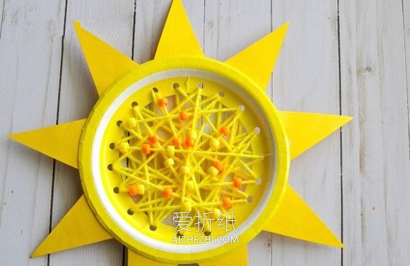 纸盘怎么做太阳- www.aizhezhi.com