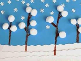 冬天卡片怎么做