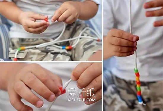 吸管项链和手链怎么做- www.aizhezhi.com