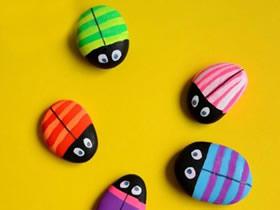 怎么画石头画瓢虫