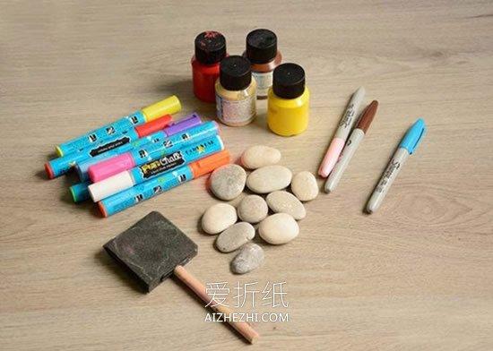 怎么画石头画瓢虫- www.aizhezhi.com