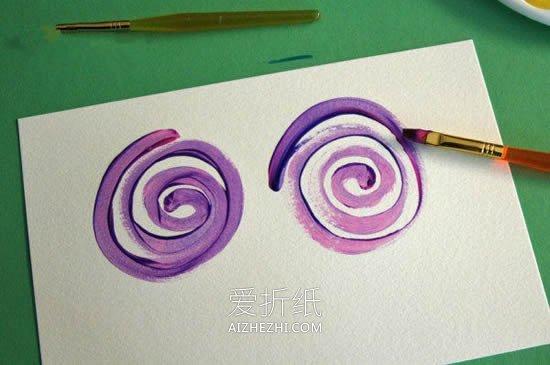 儿童画玫瑰花水彩画- www.aizhezhi.com